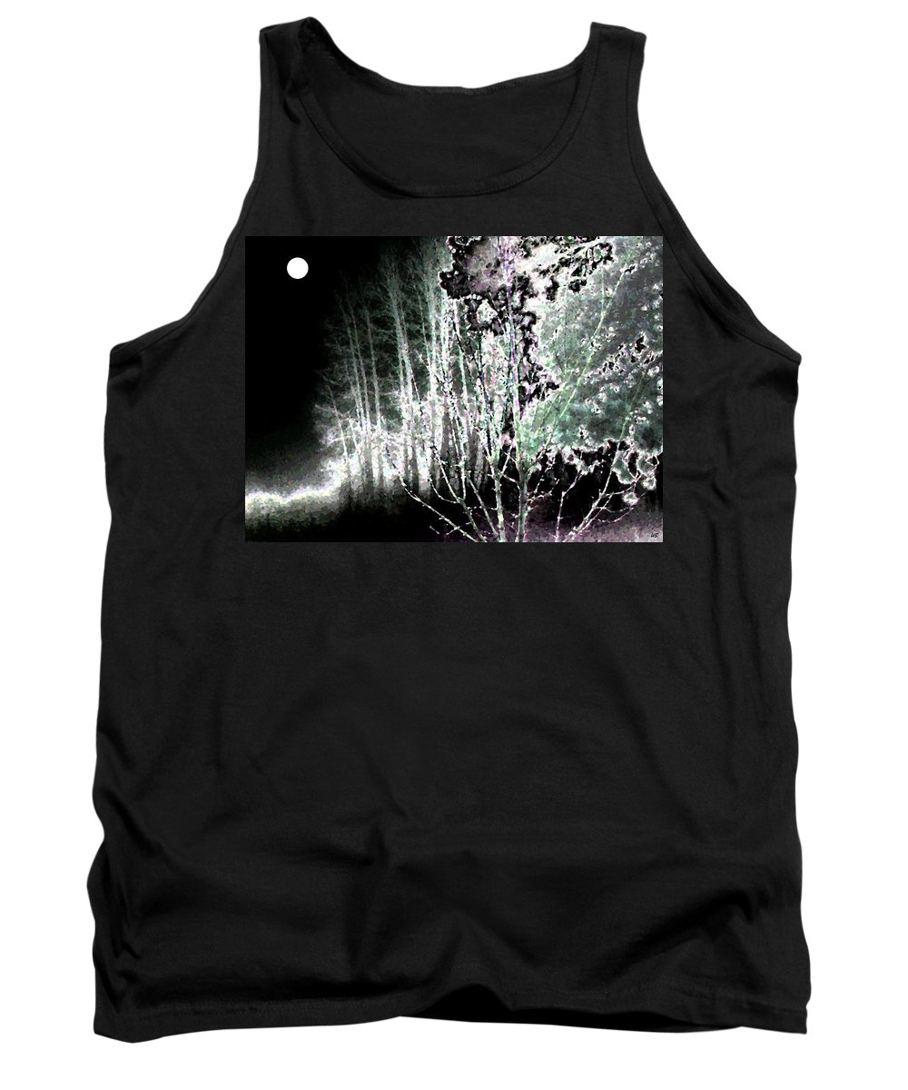 Abstract Tank Top featuring the digital art Moonlight by Will Borden