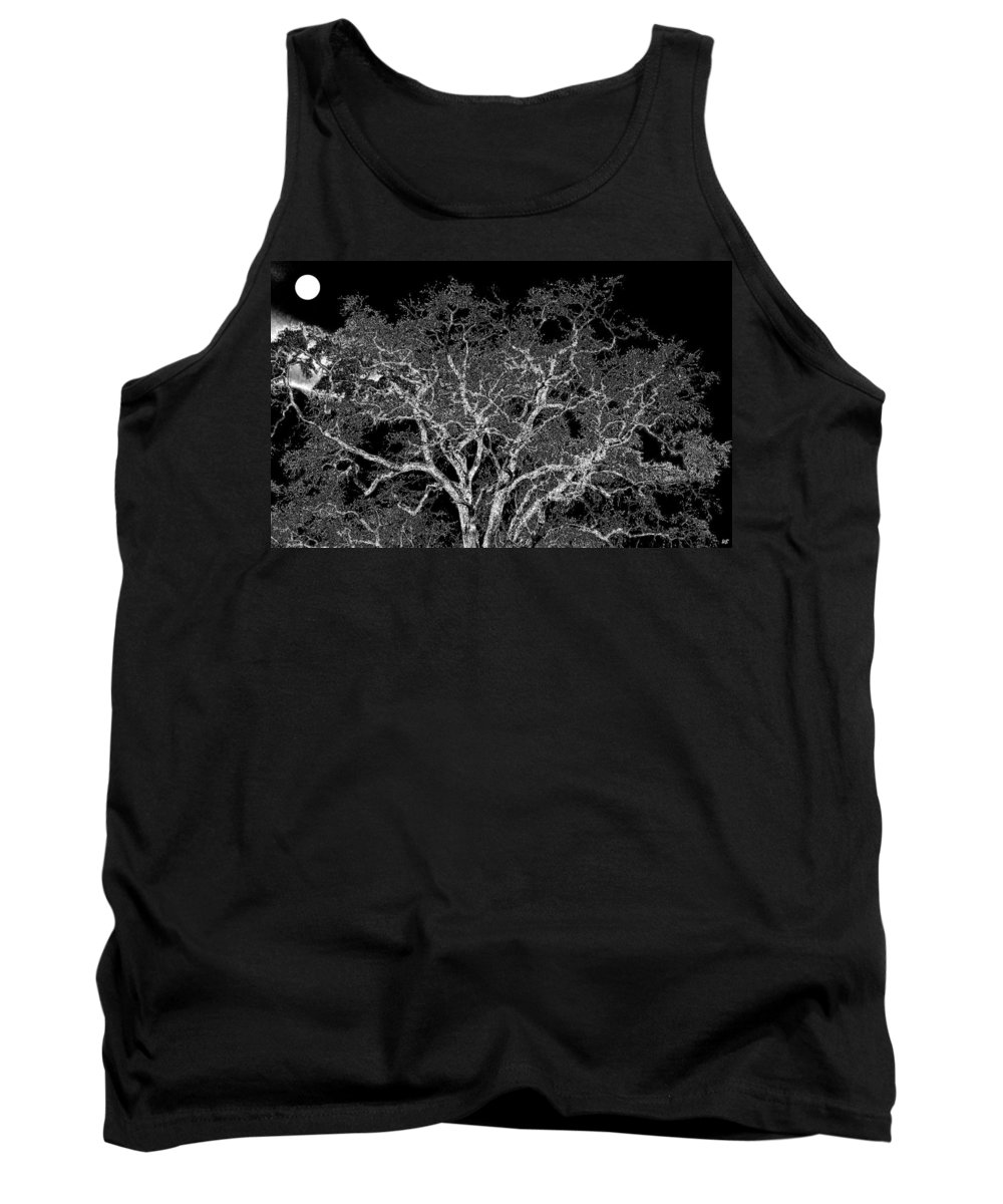 Photo Design Tank Top featuring the digital art Moonlit Night by Will Borden