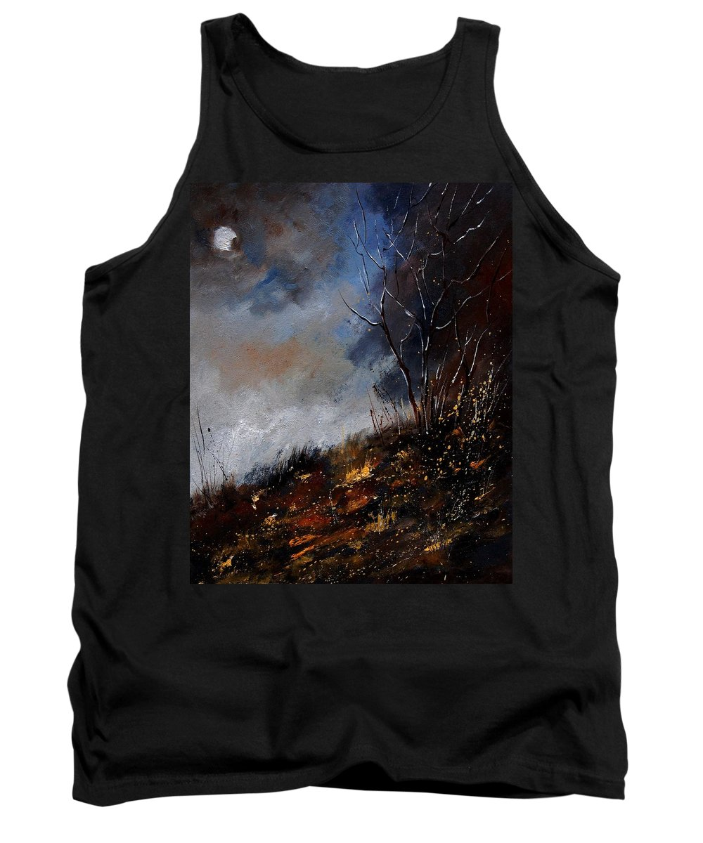 Winter Tank Top featuring the painting Moonshine 45901190 by Pol Ledent