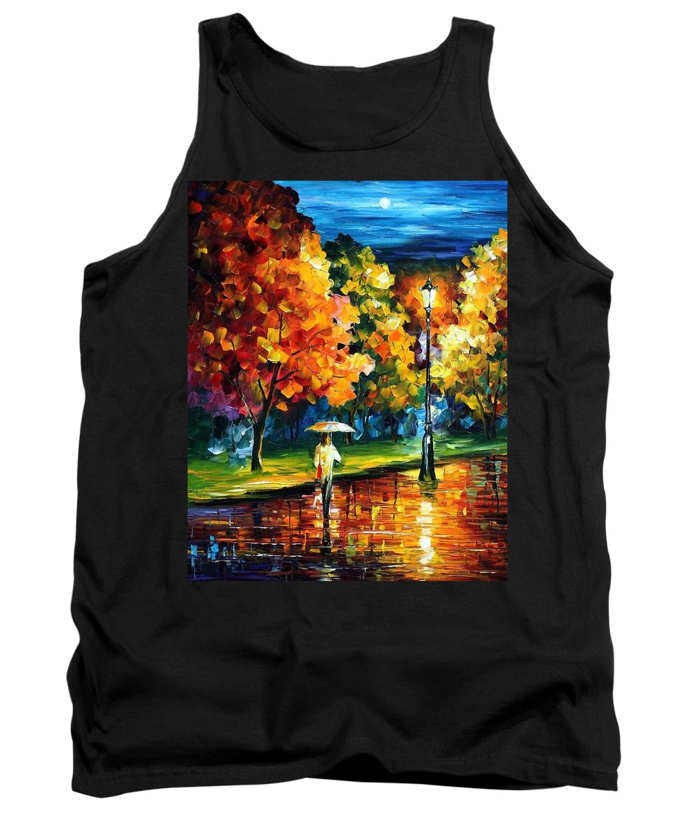 Afremov Tank Top featuring the painting Moony Night by Leonid Afremov