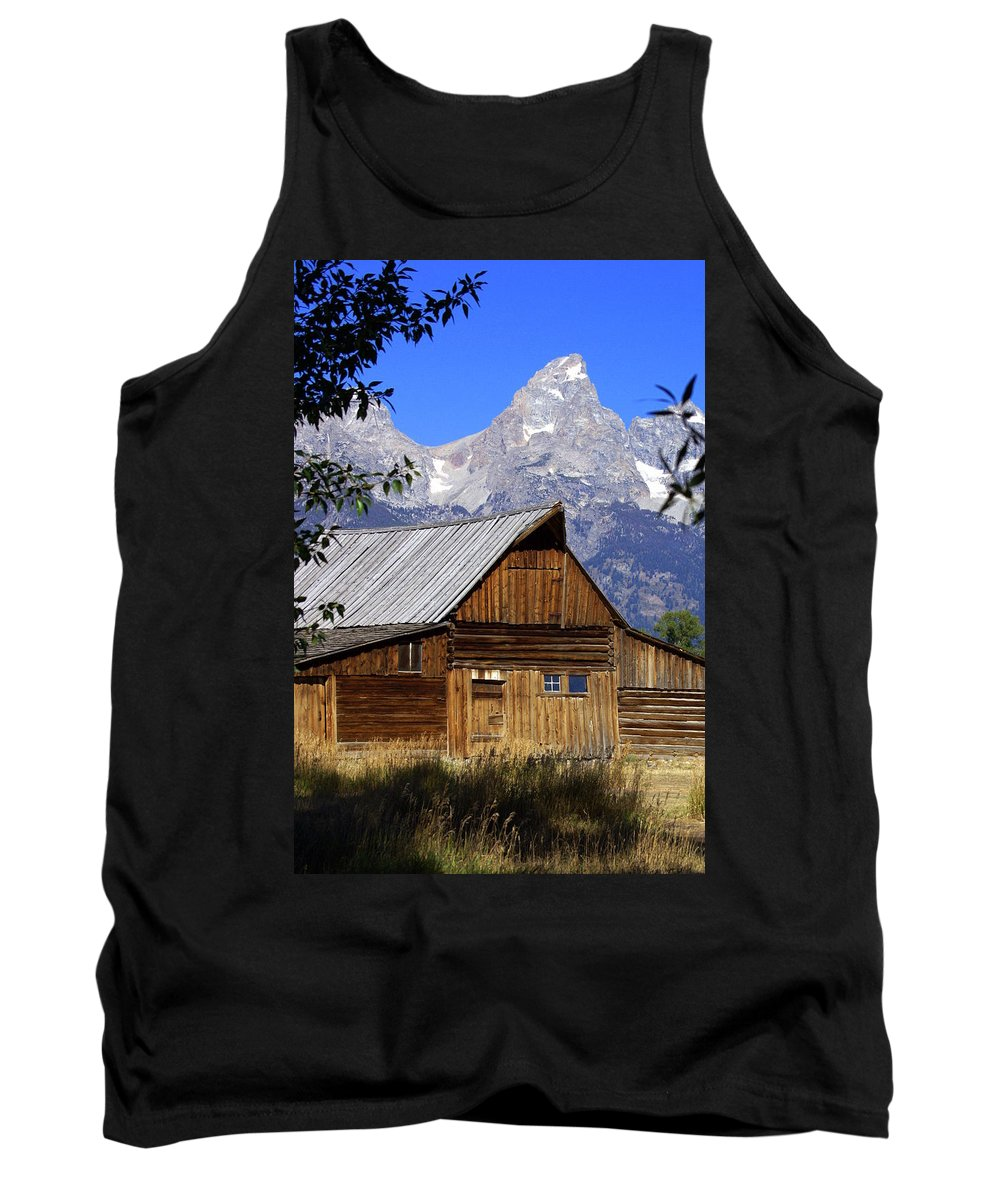 Barn Tank Top featuring the photograph Mormon Row Barn 1 by Marty Koch