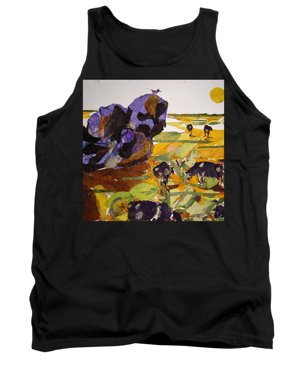 Glory Of Morning Tank Top featuring the mixed media Morning Activities by Basant Soni