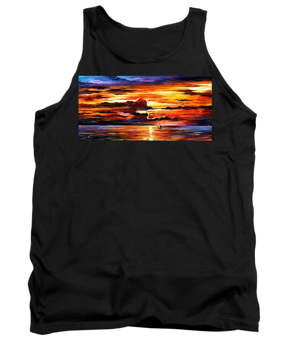 Art Gallery Tank Top featuring the painting Morning After The Storm - Palette Knife Oil Painting On Canvas By Leonid Afremov by Leonid Afremov