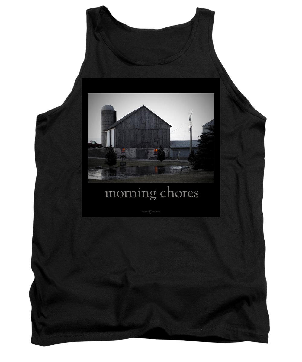 Poster Tank Top featuring the photograph Morning Chores by Tim Nyberg