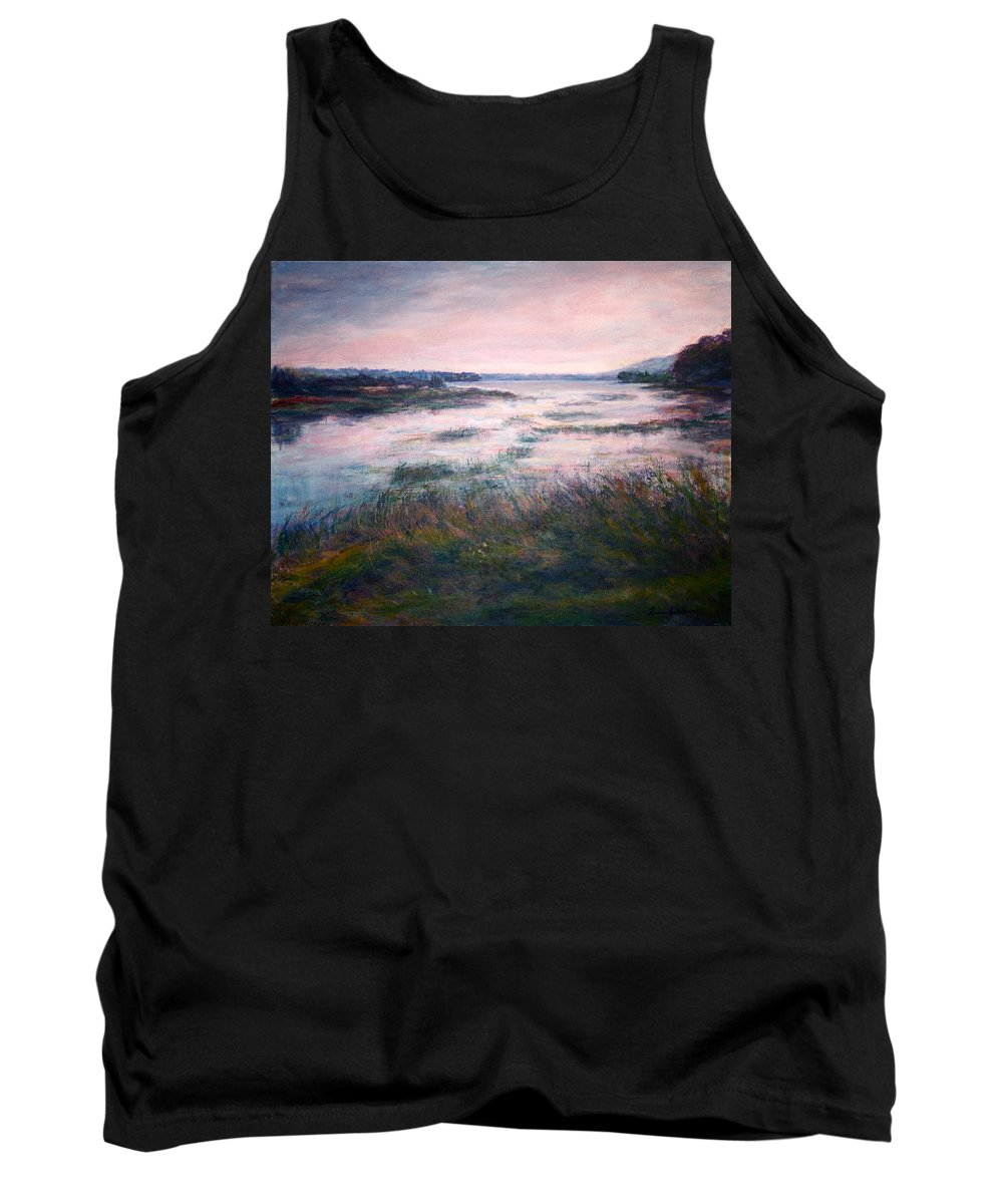 Water Tank Top featuring the painting Morning Glow by Quin Sweetman
