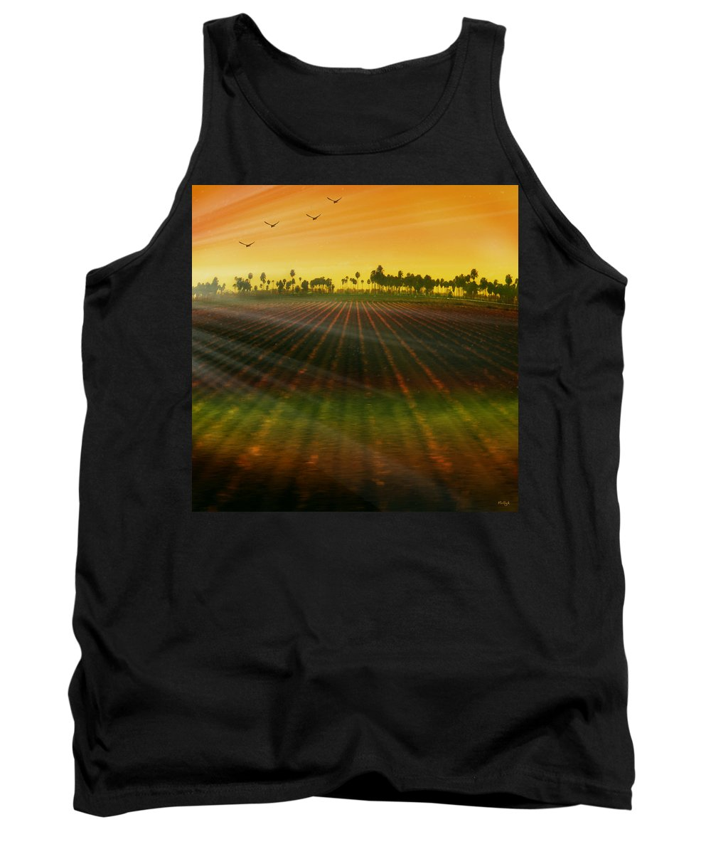 Landscape Tank Top featuring the photograph Morning Has Broken by Holly Kempe