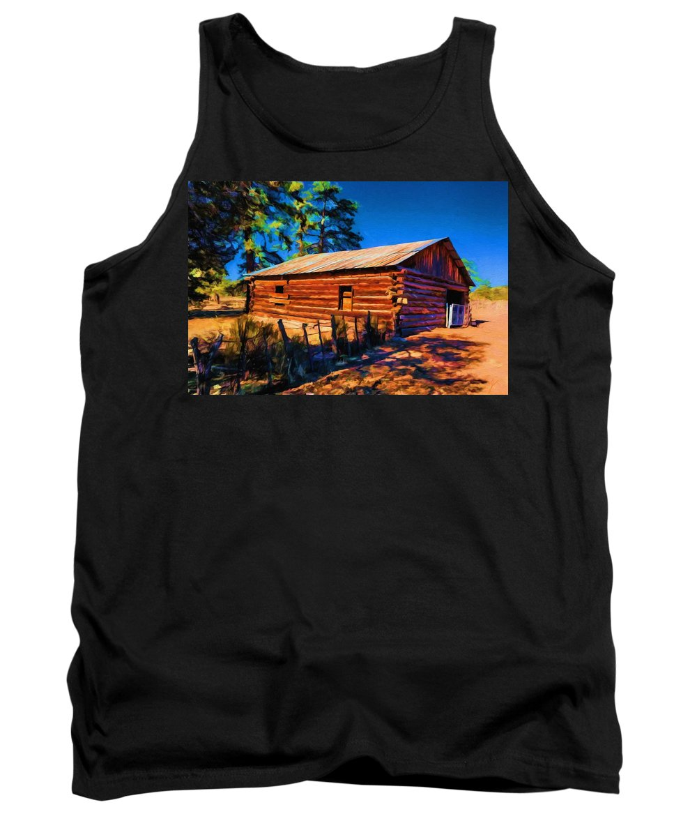Ranch Tank Top featuring the painting Morning Light by Jim Buchanan