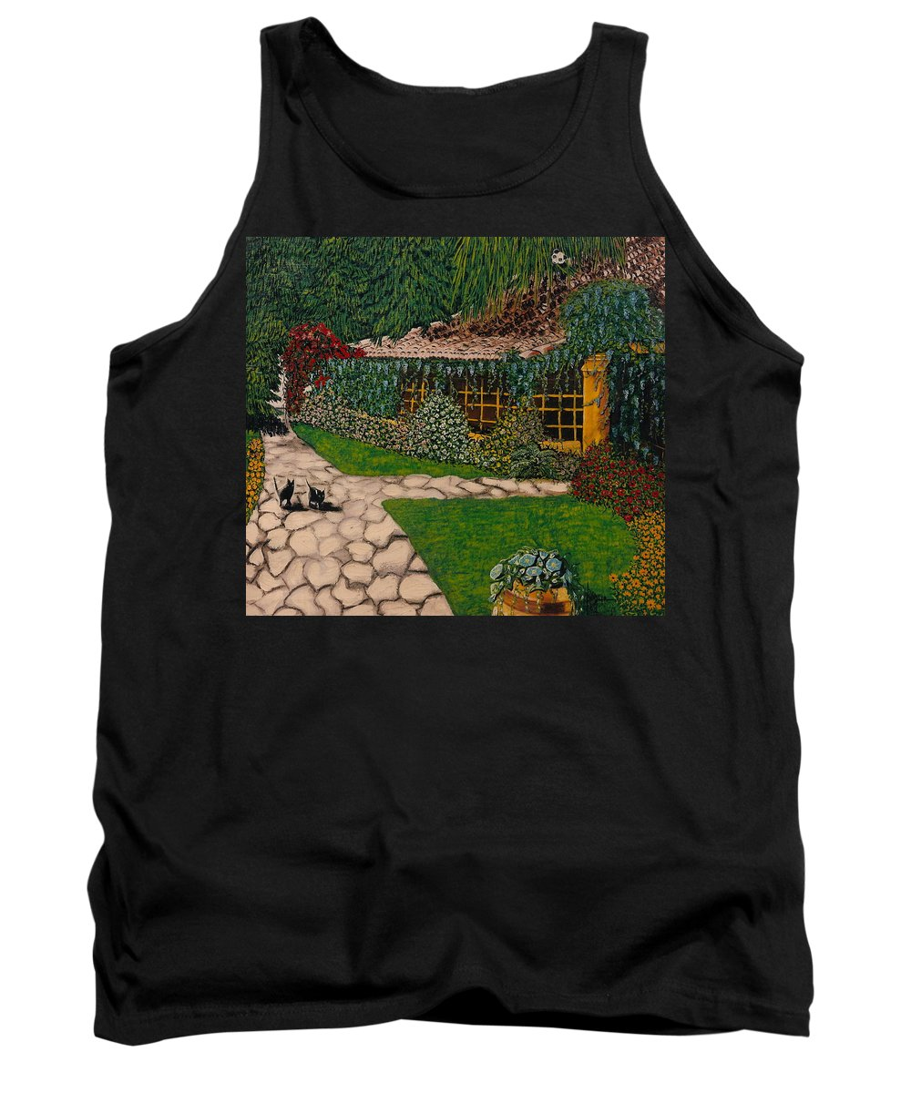 European Tank Top featuring the painting Morning Walk by V Boge