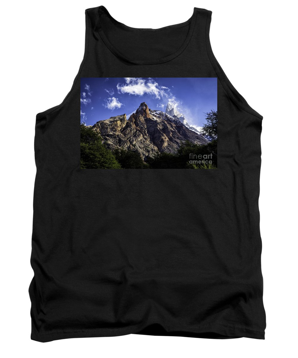 Patagonia Tank Top featuring the photograph Mount Fitz Roy 3 by Timothy Hacker