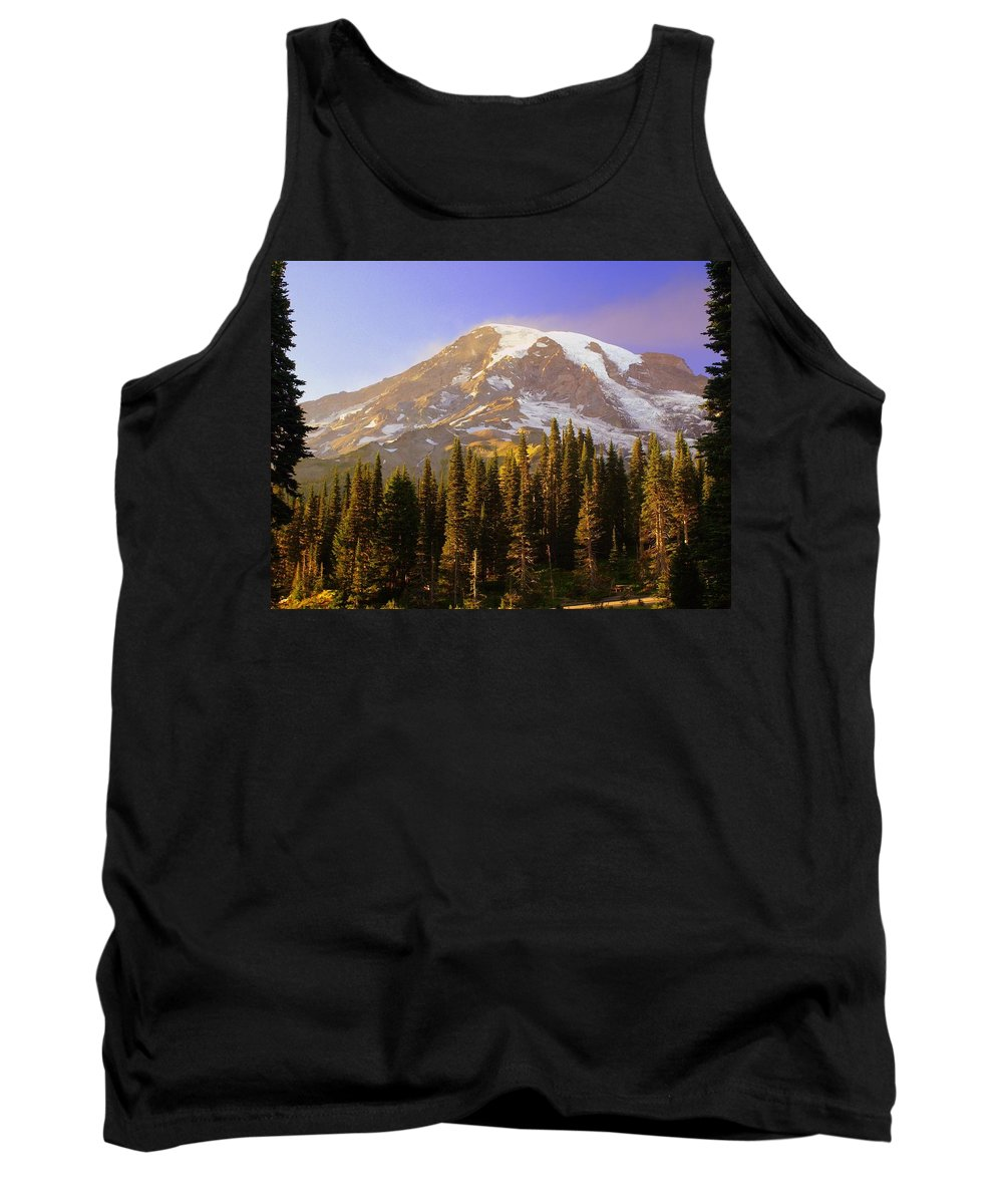 Mt. Raineer Tank Top featuring the photograph Mount Raineer 2 by Marty Koch