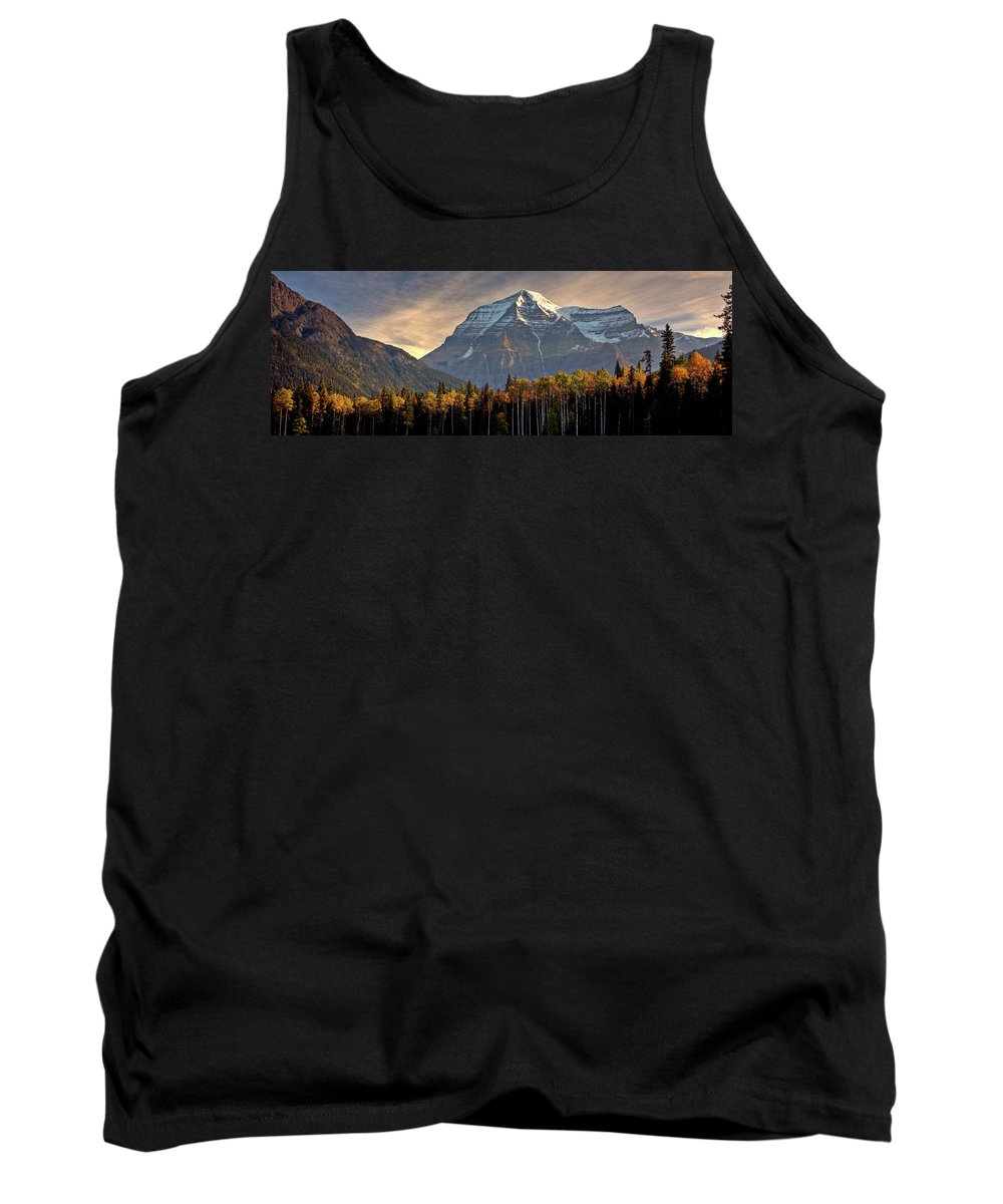 Tank Top featuring the digital art Mount Robson by Mark Duffy