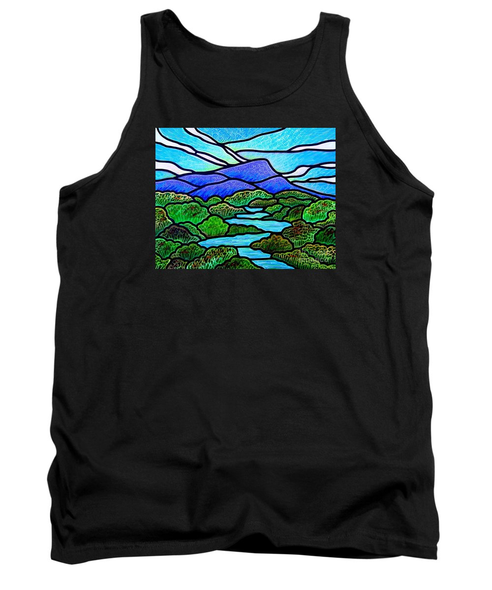 Paintings Tank Top featuring the painting Mountain Glory by Jim Harris