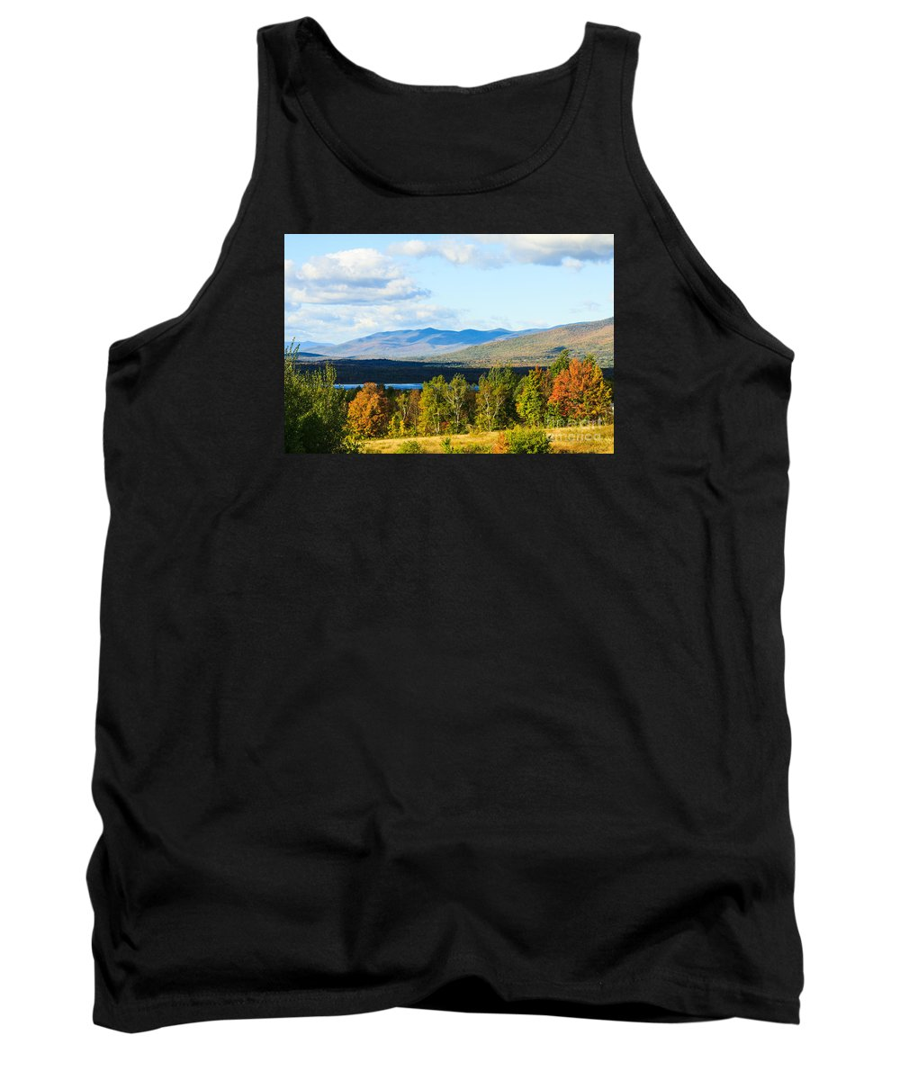 New Hampshire Tank Top featuring the photograph Mountain Lake In The Fall by Terri Morris