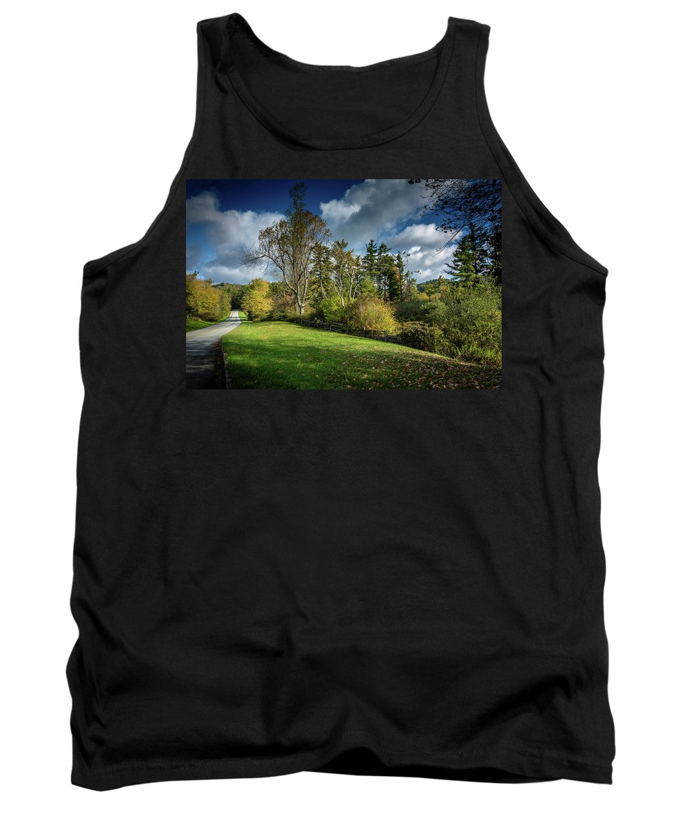 Landscape Tank Top featuring the photograph Mountain Parkway by Larry Jones
