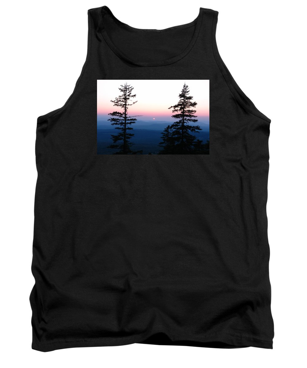 Mountain Tank Top featuring the photograph Mountain Sunset by Christa Walter