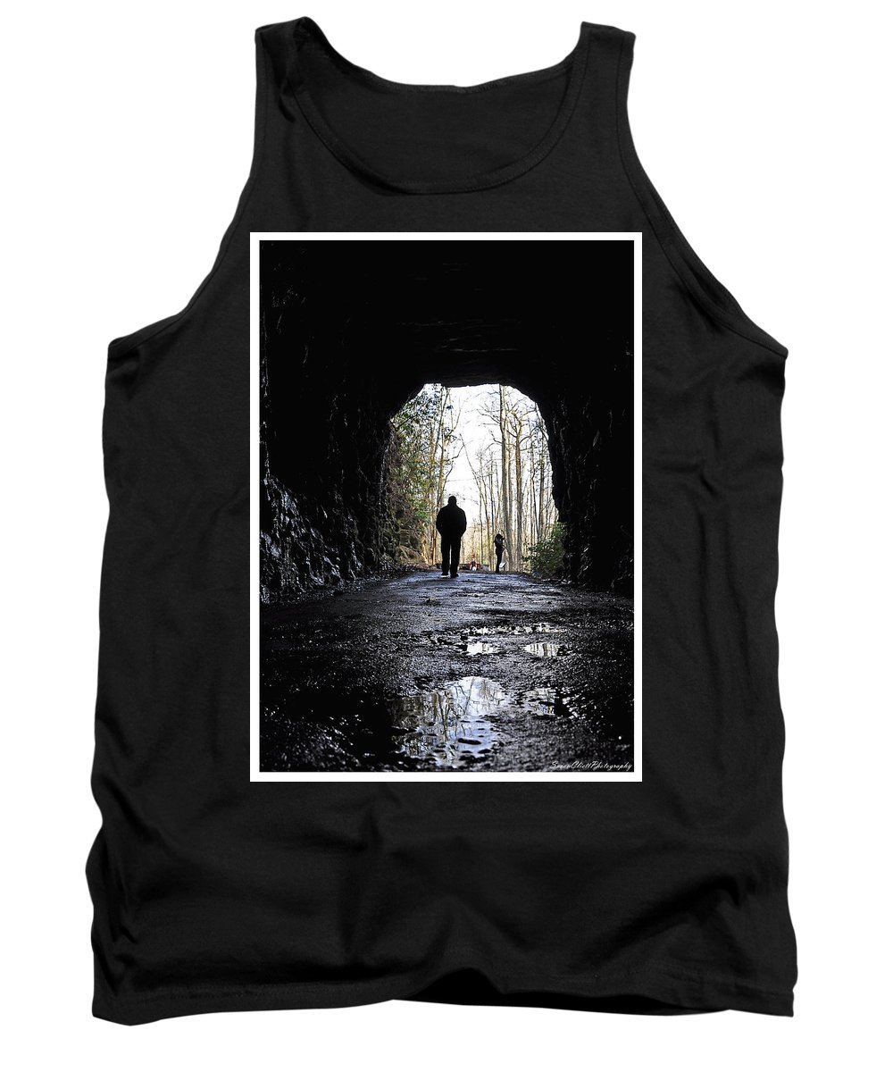 Photography Tank Top featuring the photograph Mountain Tunnel by Susan Cliett