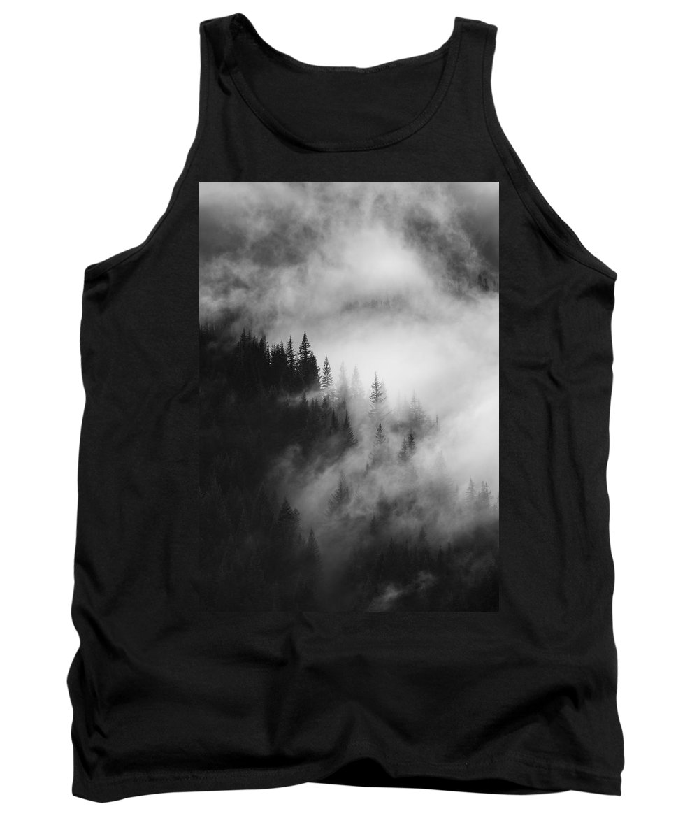 Forest Tank Top featuring the photograph Mountain Whispers by Mike Dawson