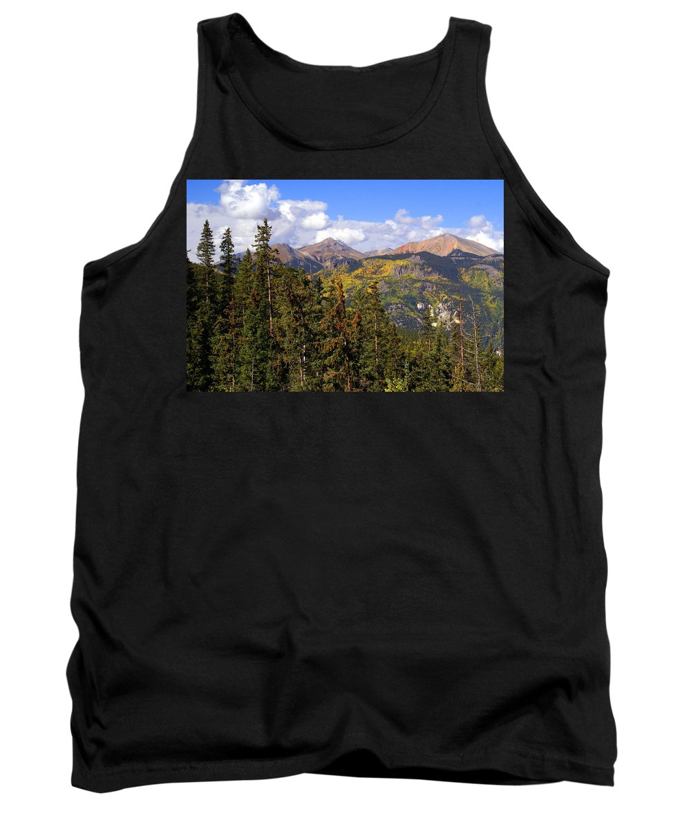 Colorado Tank Top featuring the photograph Mountains Aglow by Marty Koch