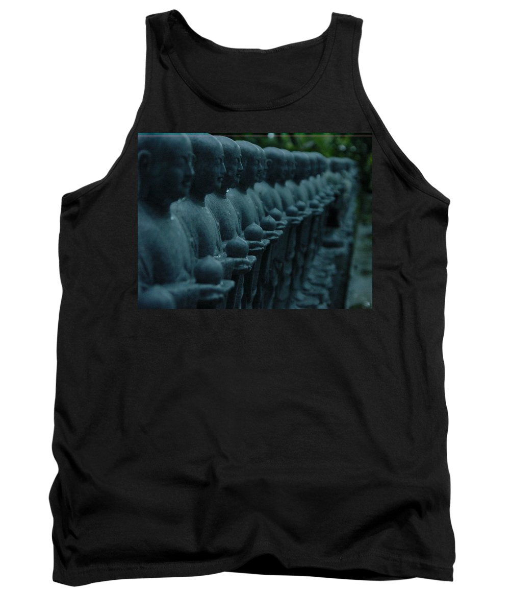 Statues Tank Top featuring the photograph Mourning Row by D Turner