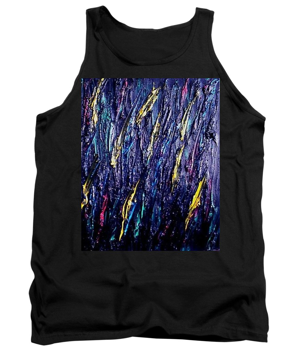 Moveonart! Digital Gallery Tank Top featuring the painting Moveonart Colors In The Dark by Jacob Kanduch