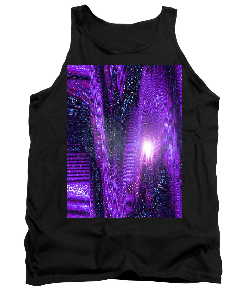 Moveonart! Digital Gallery Tank Top featuring the digital art Moveonart Dont Worry About Tomorrow by Jacob Kanduch