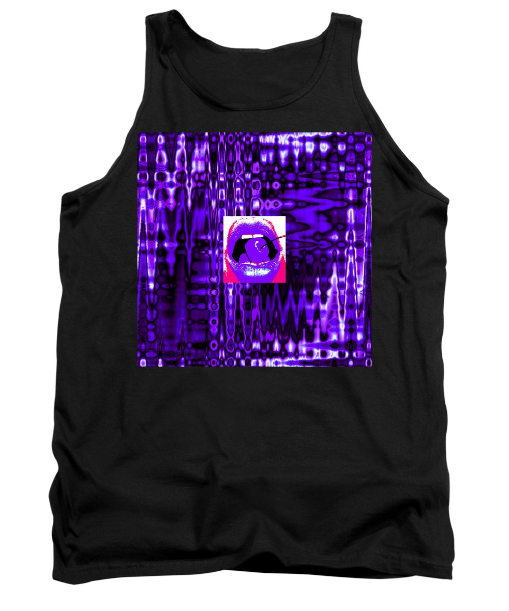 Moveonart! Visualtherapytime03apr Abstract By Artist Musician Jacob Kane Kanduch -- Omnetra Tank Top featuring the digital art Moveonart Visualtherapytime03apr by Jacob Kanduch