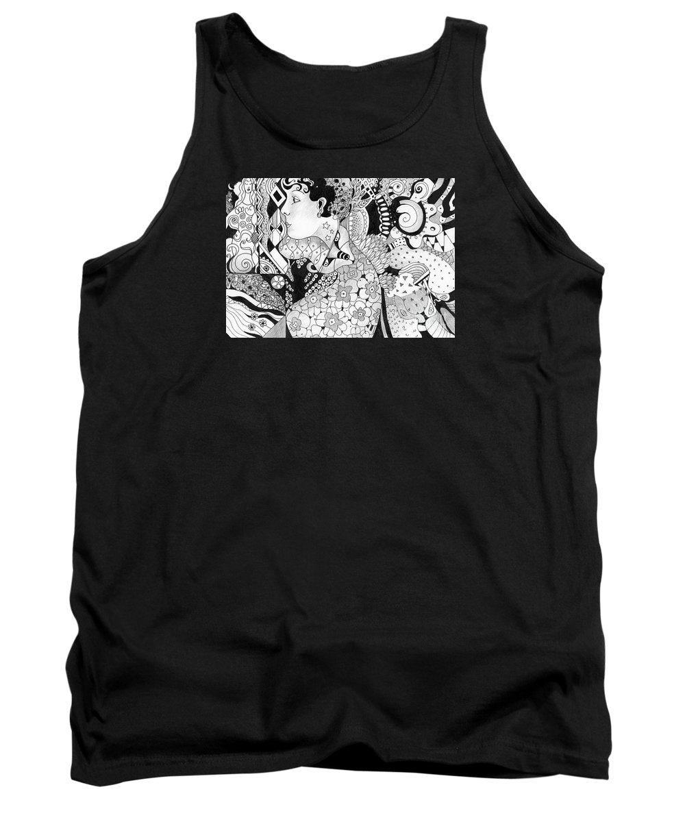 Organic Abstraction Tank Tops