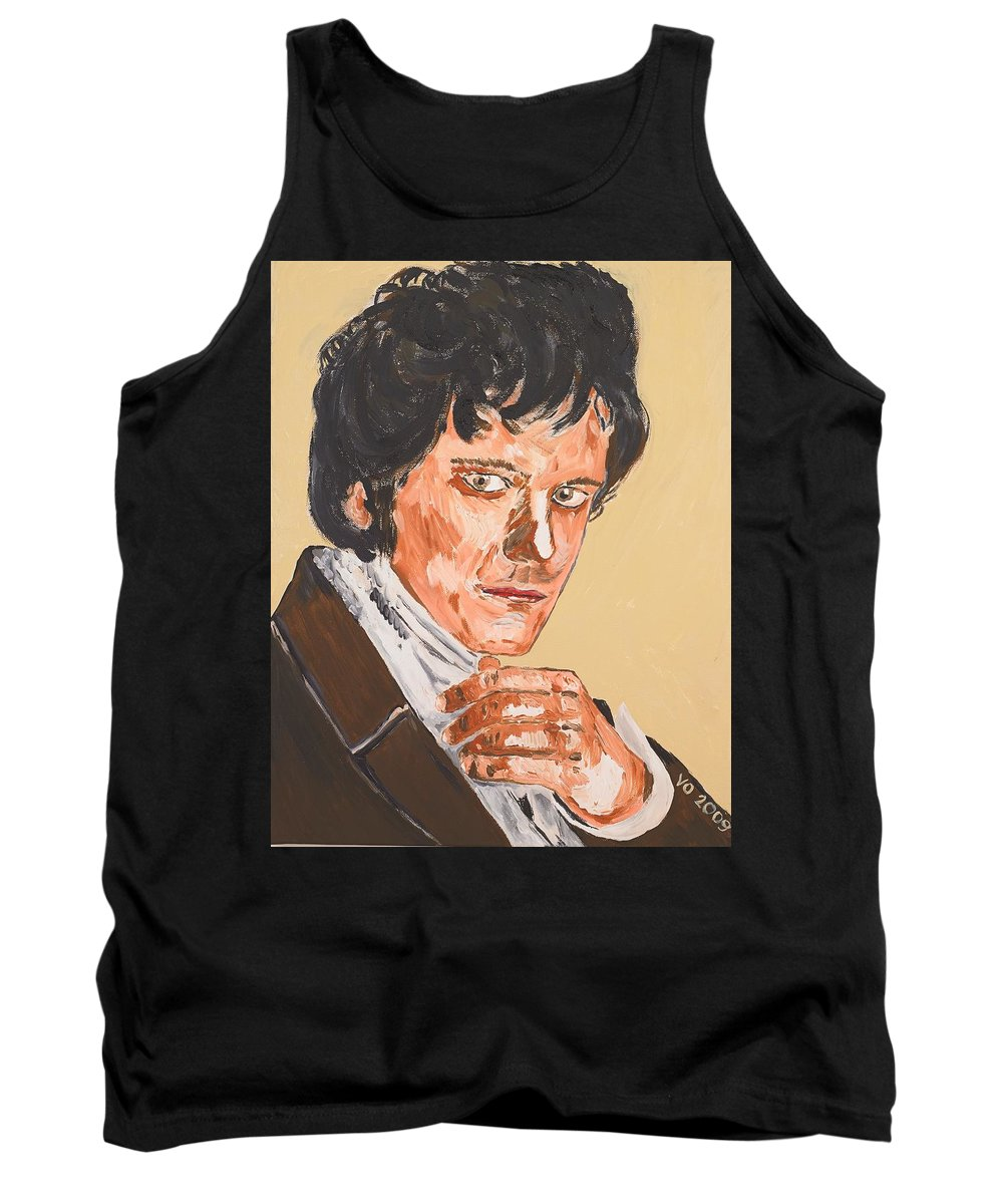 Darcy Tank Top featuring the painting Mr. Darcy by Valerie Ornstein