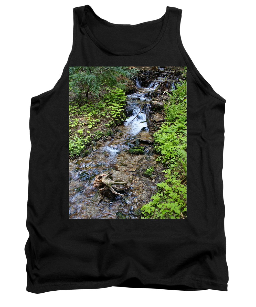 Nature Tank Top featuring the photograph Mt. Spokane Creek 2 by Ben Upham III