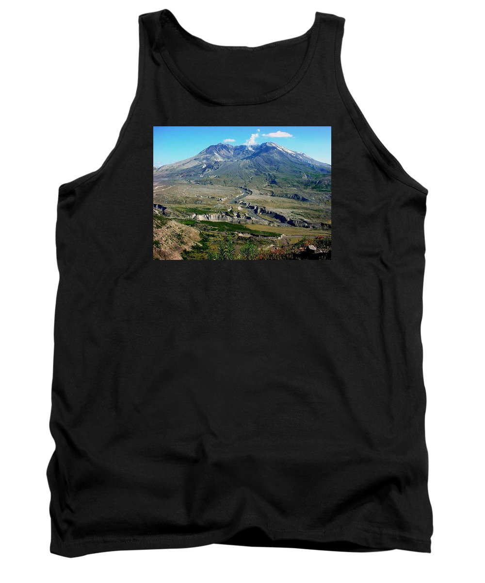 Landscape Tank Top featuring the photograph Mt. St. Helens 2005 by Val Conrad