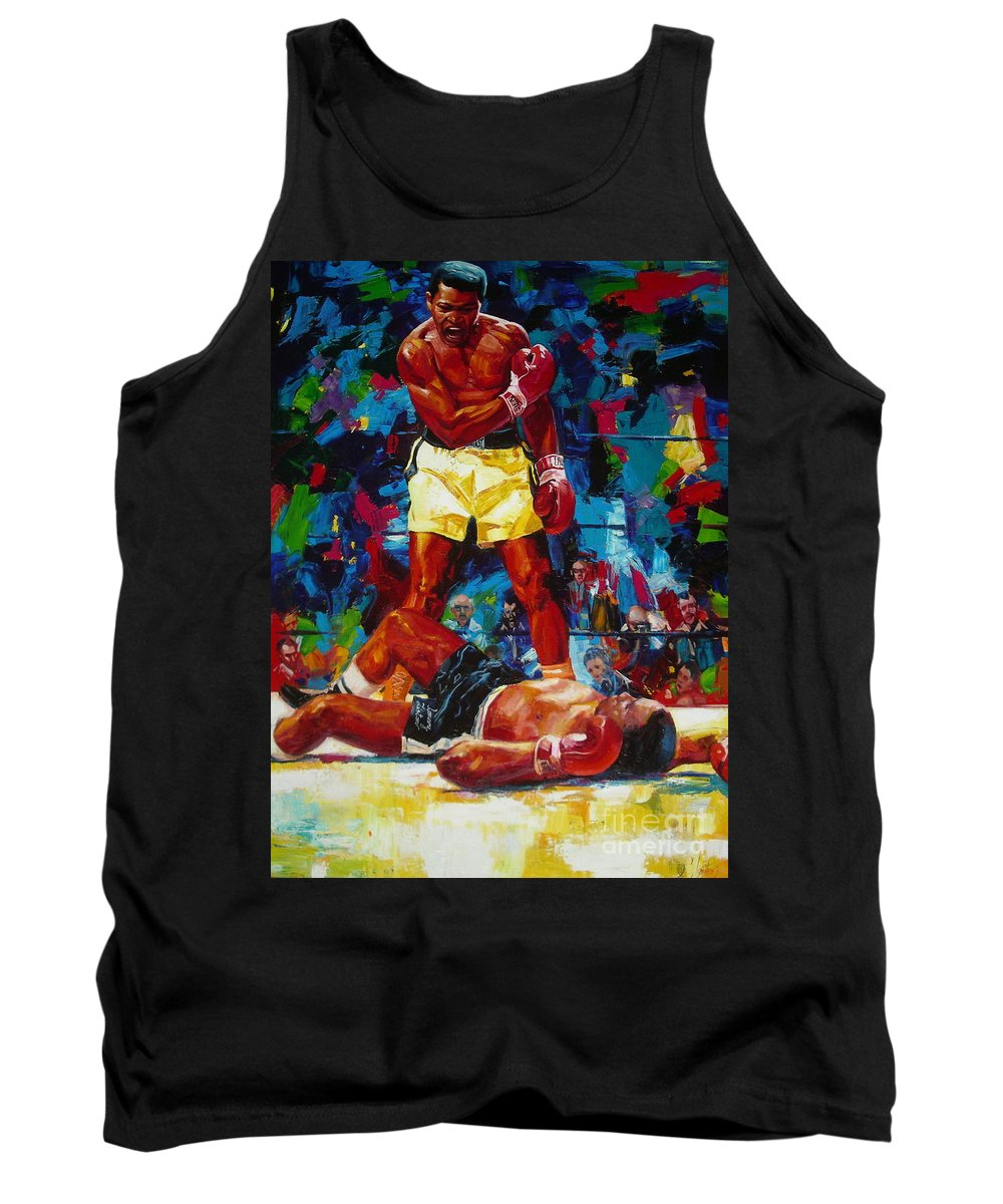 Ignatenko Tank Top featuring the painting Muhammad Ali by Sergey Ignatenko