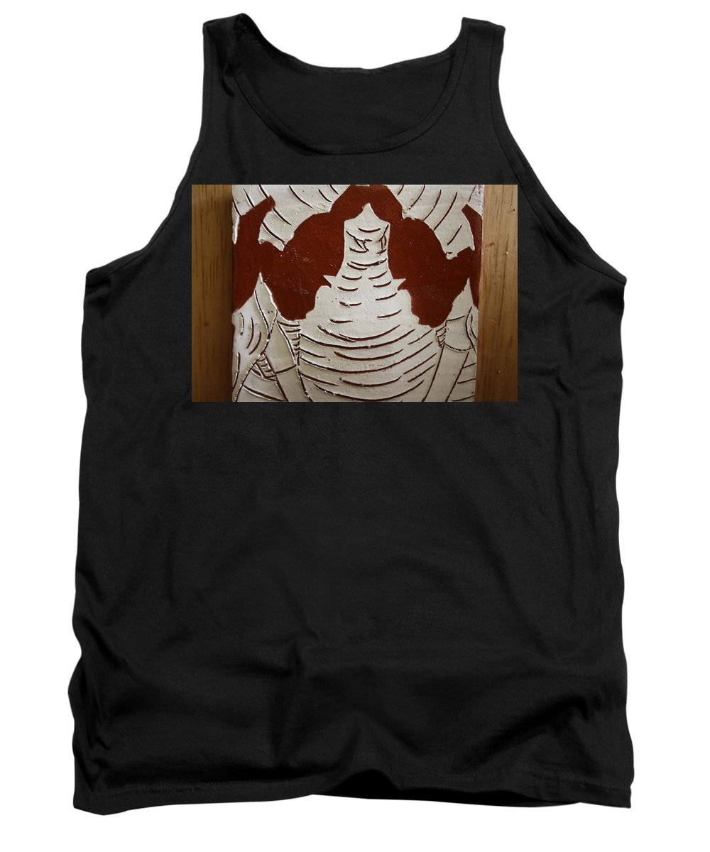 Jesus Tank Top featuring the ceramic art Mukama Atulabba - God Sees Us - Tile by Gloria Ssali