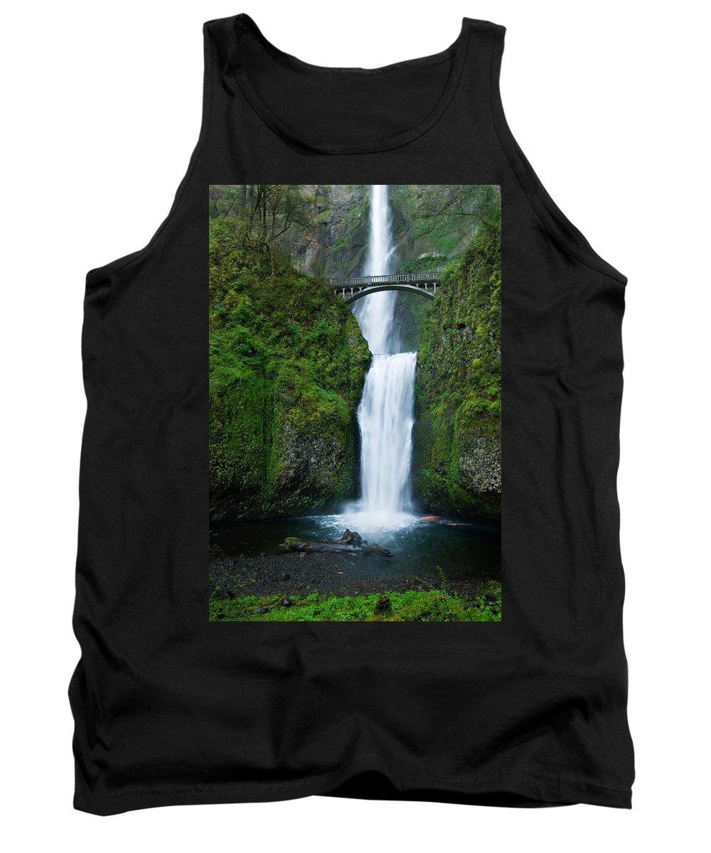Waterfall Tank Top featuring the photograph Multnomah Falls by Renee Hong