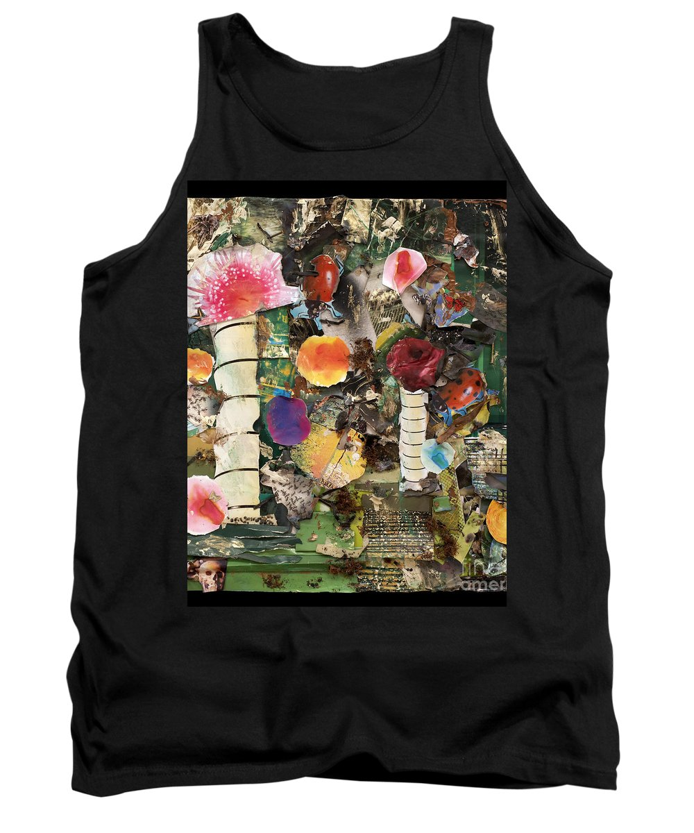 Abstract Tank Top featuring the mixed media Mushroom by Jaime Becker