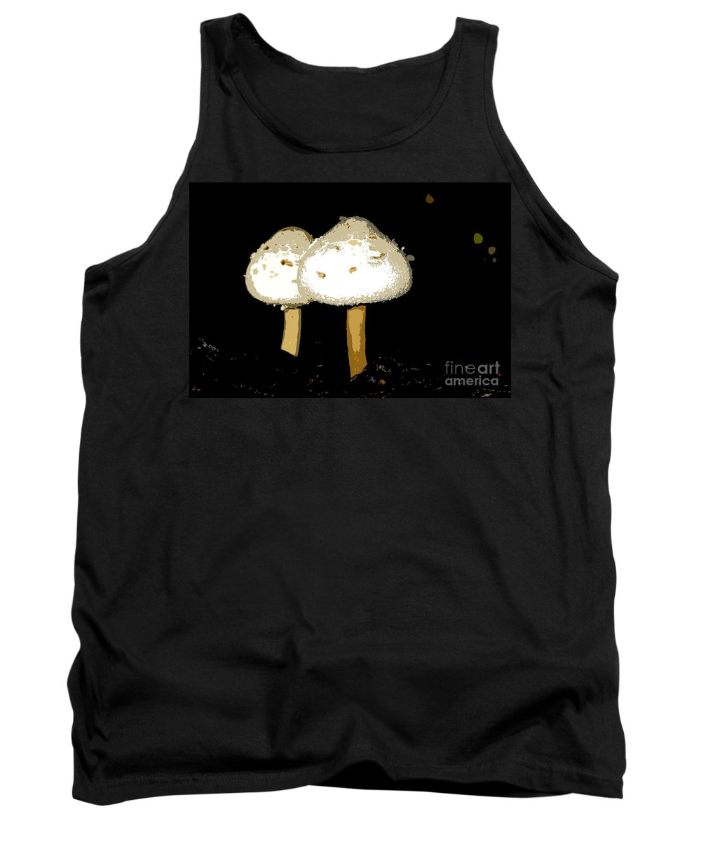 Mushrooms Tank Top featuring the photograph Mushrooms For Two Work Number 11 by David Lee Thompson