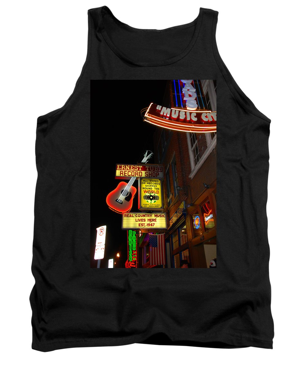 Nashville Tank Top featuring the photograph Music City Nashville by Susanne Van Hulst