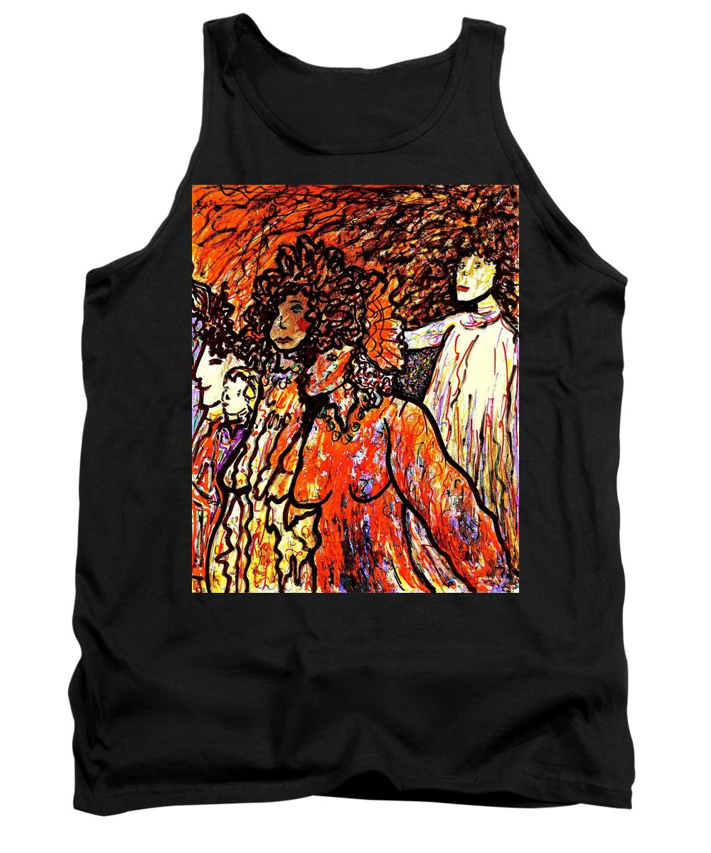 Figurative Art Tank Top featuring the painting Musical Recital by Natalie Holland