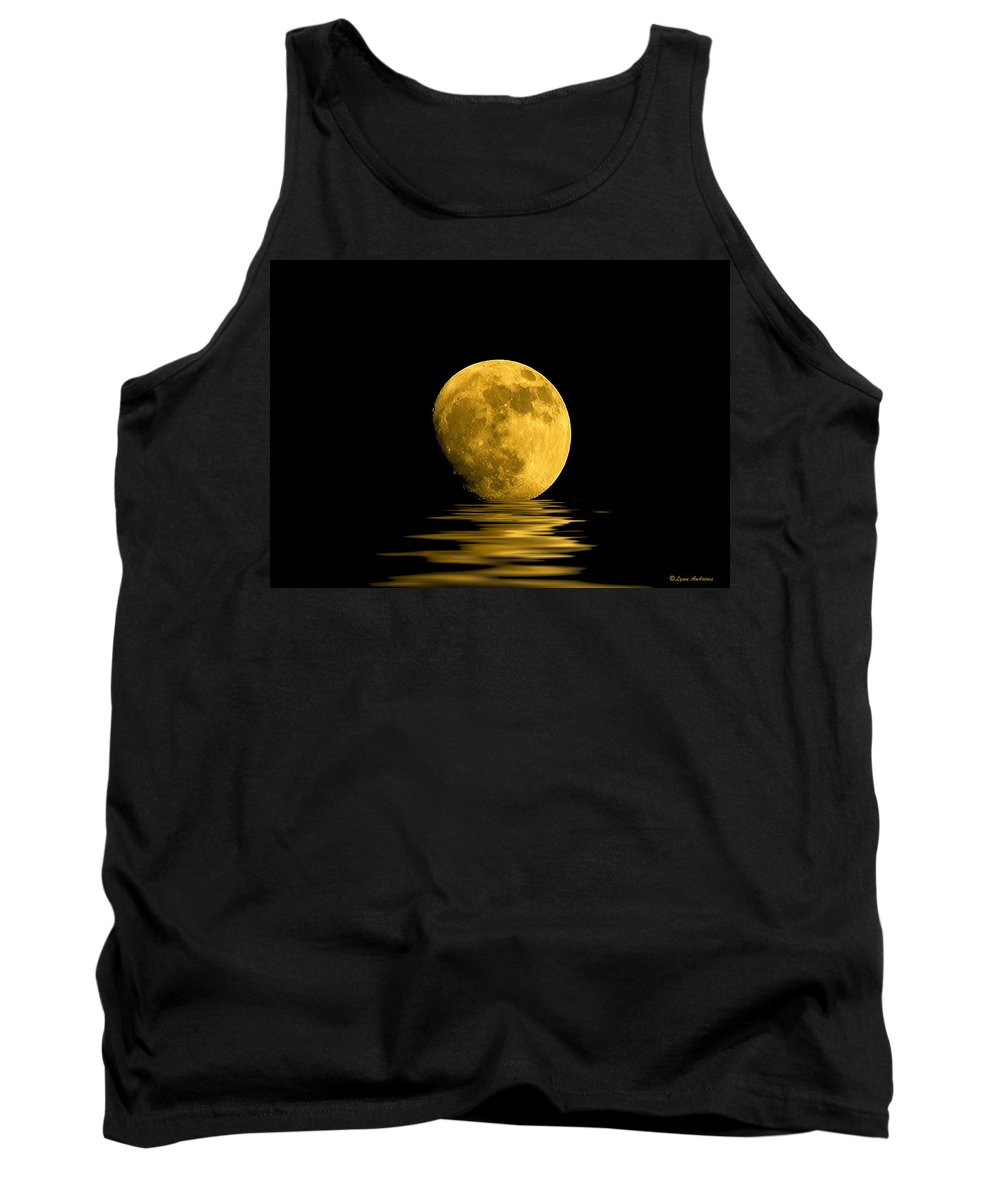 Moon Tank Top featuring the photograph My Harvest Moon by Lynn Andrews