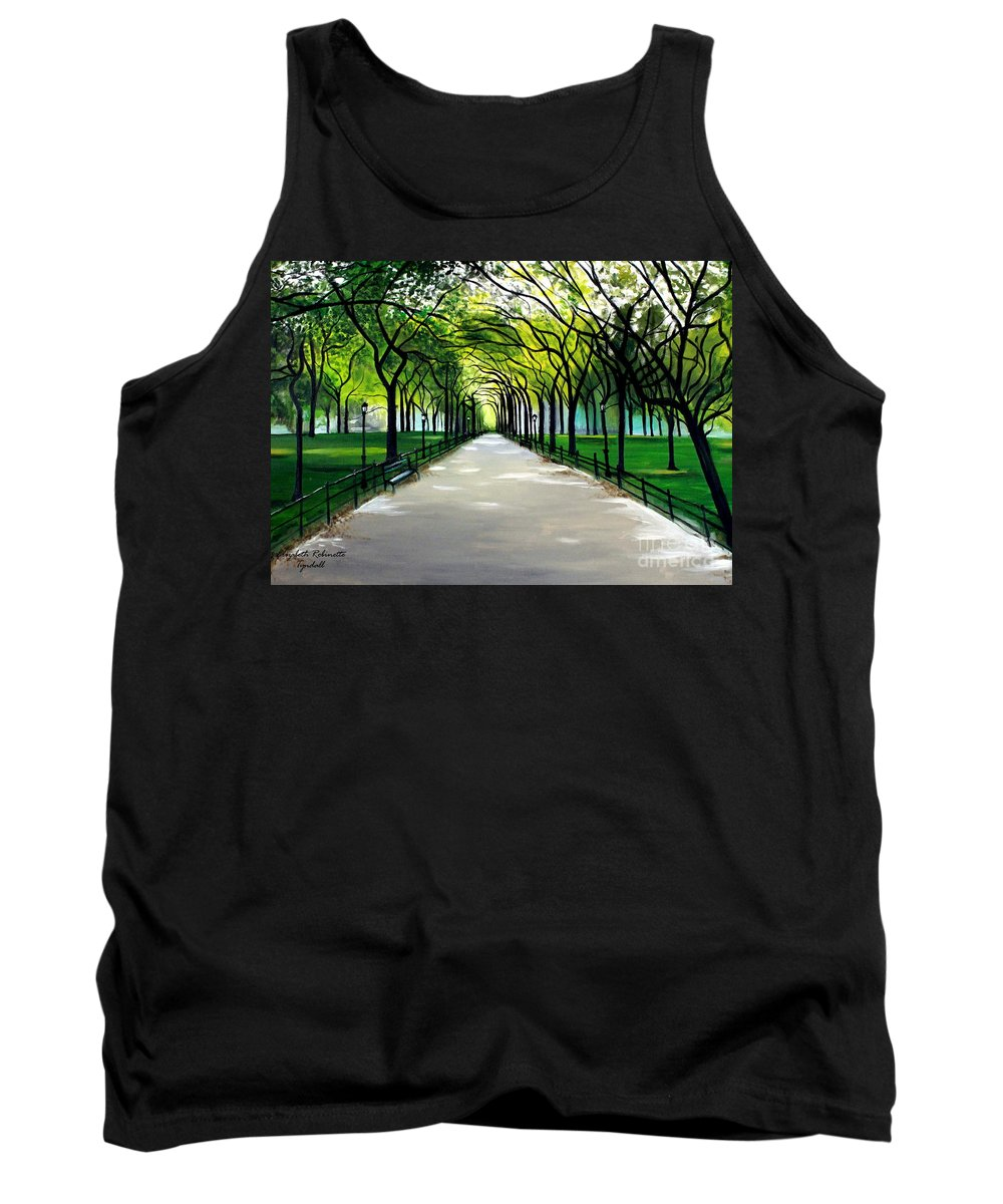 Landscape Tank Top featuring the painting My Poet's Walk by Elizabeth Robinette Tyndall