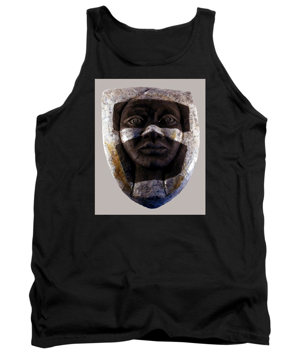 Ceramic Tank Top featuring the relief My Veils I by Madalena Lobao-Tello