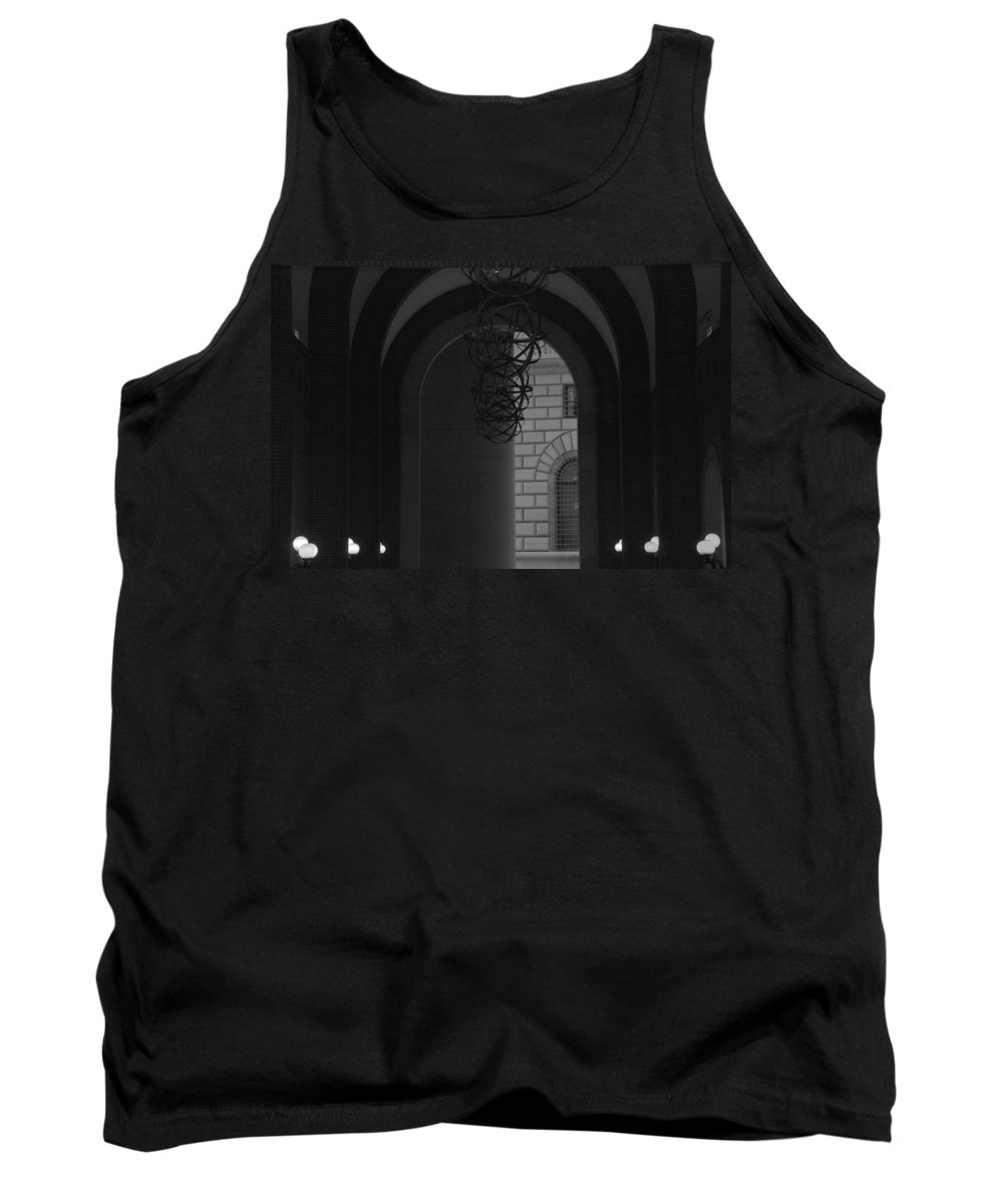 New York City Tank Top featuring the photograph N Y C Lighted Arch by Rob Hans