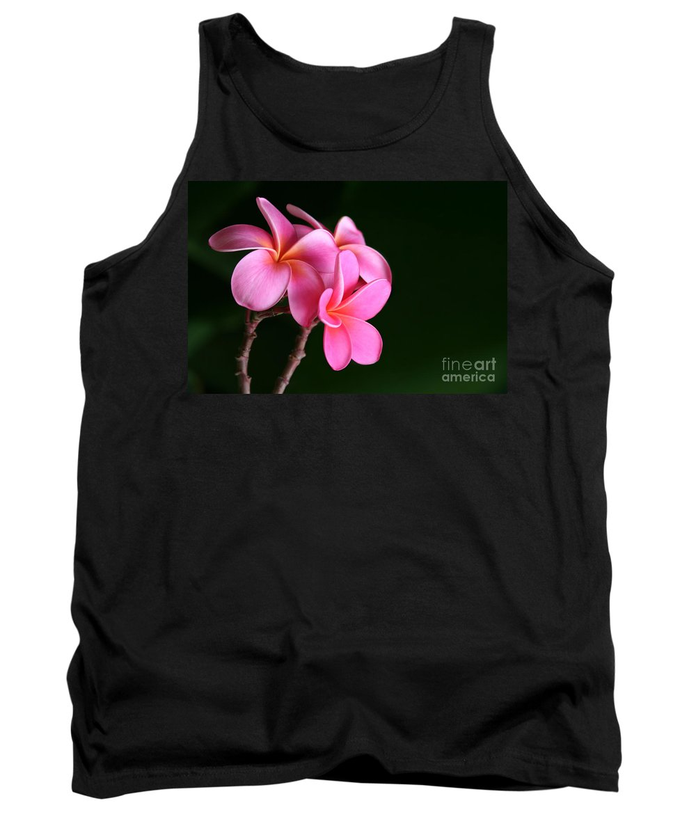 Pink Plumeria Tank Top featuring the photograph Pink Plumeria by Sharon Mau