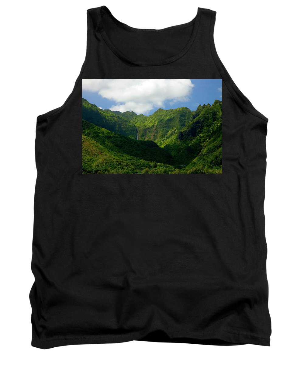 Na Pali Tank Top featuring the photograph Na Pali Green by Mike Dawson