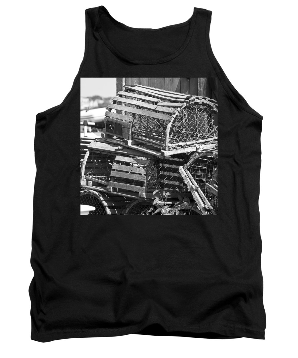 Nantucket Tank Top featuring the photograph Nantucket Lobster Traps by Charles Harden