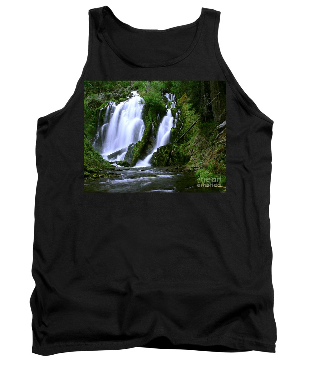 Waterfall Tank Top featuring the photograph National Creek Falls 02 by Peter Piatt