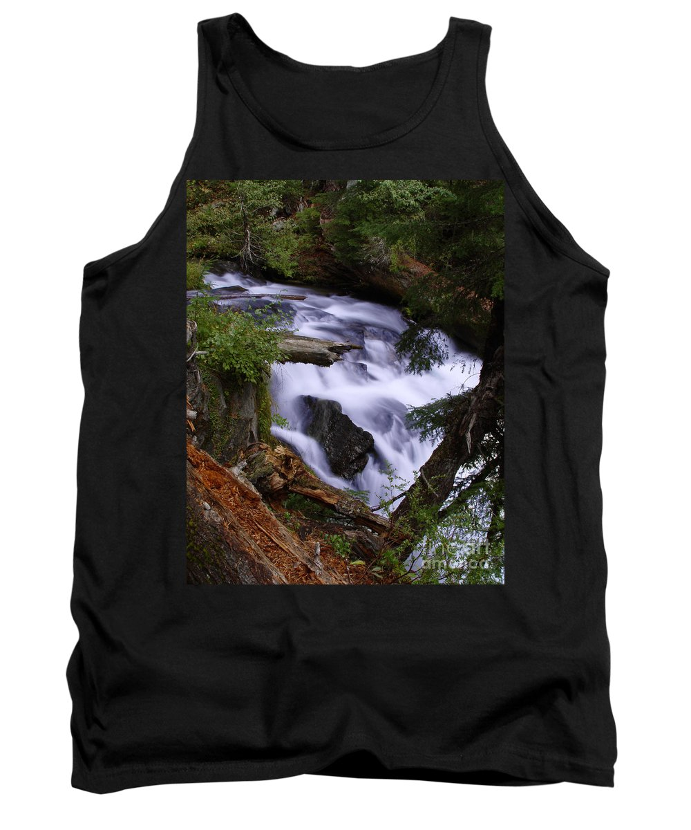 Waterfall Tank Top featuring the photograph National Creek Falls 03 by Peter Piatt