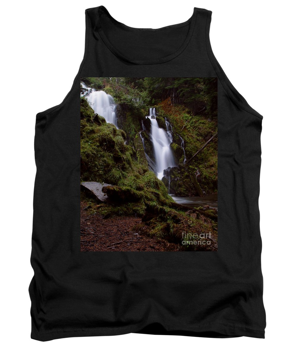 Waterfall Tank Top featuring the photograph National Creek Falls 04 by Peter Piatt