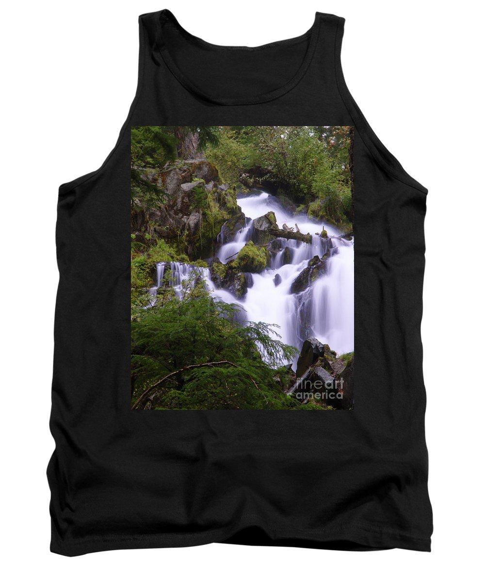 Waterfall Tank Top featuring the photograph National Creek Falls 05 by Peter Piatt