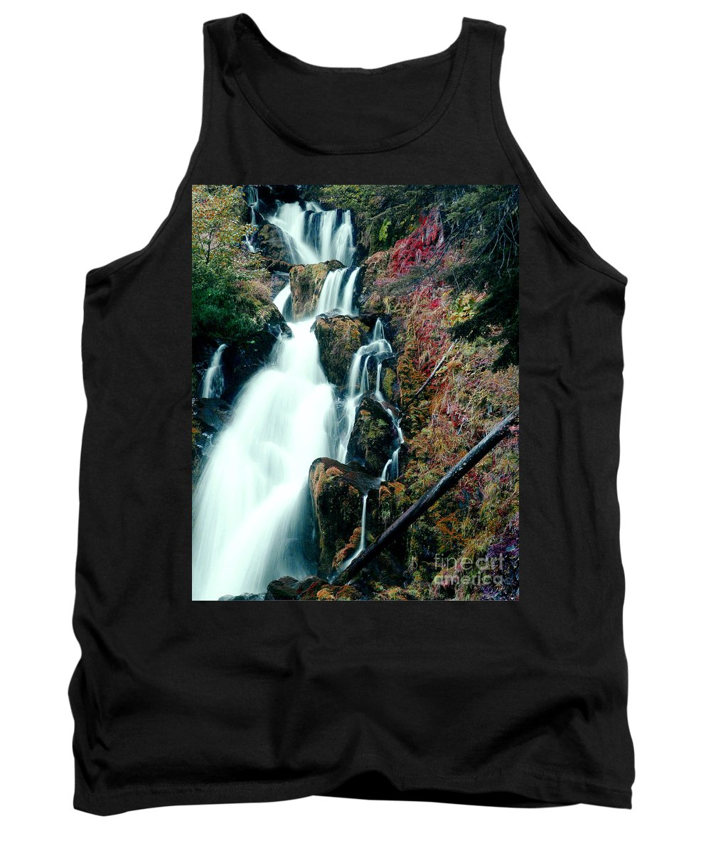Waterfall Tank Top featuring the photograph National Creek Falls 07 by Peter Piatt