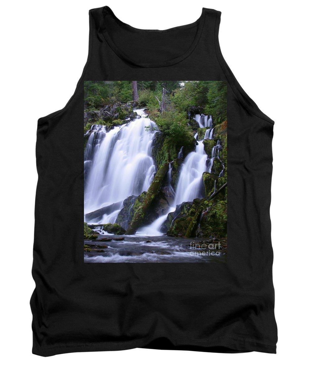 Waterfall Tank Top featuring the photograph National Creek Falls 09 by Peter Piatt